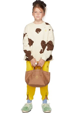 The Animal Observatory Kids White & Brown Cow Marmot Shirt