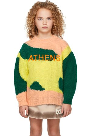 The Animal Observatory Kids Multicolor Athens City Bull Sweater