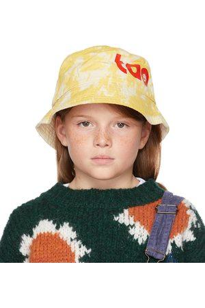 The Animal Observatory Kids White & Yellow Tie-Dye Starfish Bucket Hat