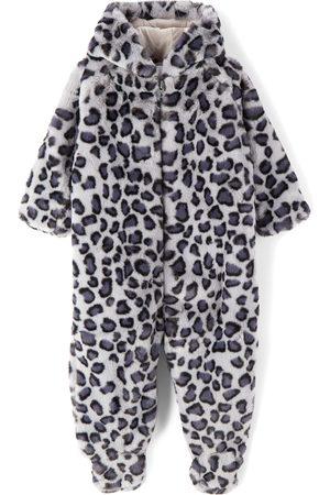 Molo Baby Grey Faux-Fur Leopard Umba Jumpsuit
