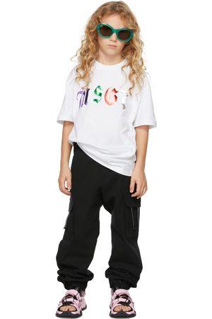 Msgm Kids White Logo T-Shirt