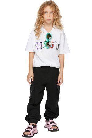 Msgm Kids Black Cargo Pants