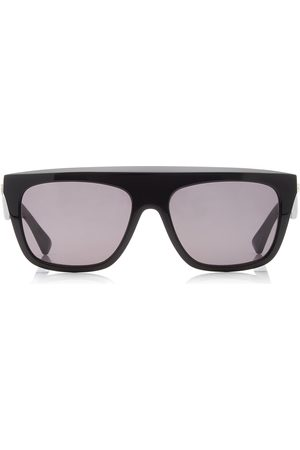 Bottega Veneta Women's Acetate Flat-Top Square-Frame Sunglasses - /green - Moda Operandi