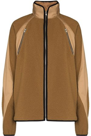 ARNAR MÁR JÓNSSON Men Fleece Jackets - Panelled fleece jacket - Neutrals