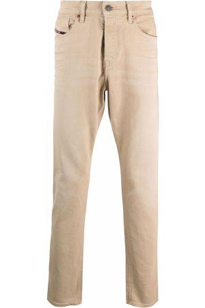 Diesel Men Slim - Garment-dyed slim-fit jeans - Neutrals
