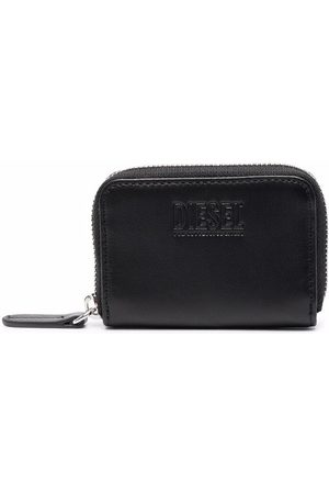 Diesel Men Wallets - Embossed-logo compact zip-around wallet
