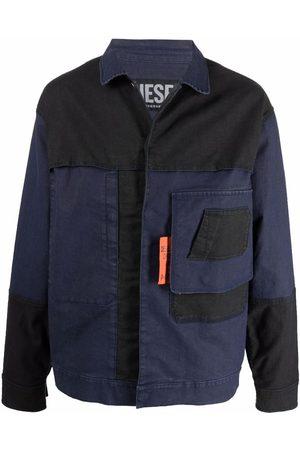 Diesel Men Denim Jackets - Bi-colour denim jacket