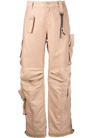 Diesel Women Cargo Pants - Cotton-linen twill cargo pants - Neutrals