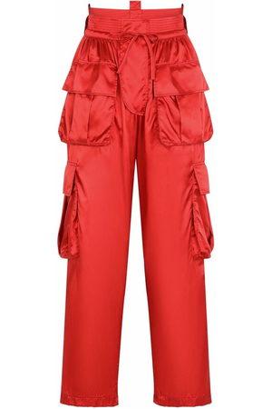Dolce & Gabbana Women Pants - Multiple-pocket drawstring-waist trousers