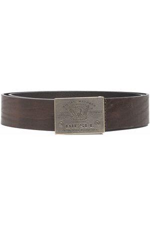 Diesel Superior logo-engraved leather belt