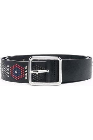 Diesel Men Belts - Studded-motif leather belt