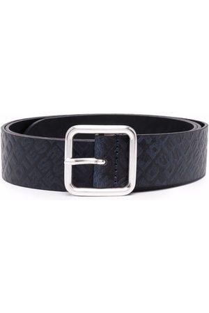 Diesel Men Belts - B-Omni debossed monogram belt