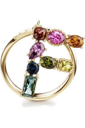 Dolce & Gabbana 18kt yellow Rainbow Alphabet F ring