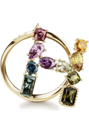 Dolce & Gabbana Women Rings - 18kt yellow Rainbow Alphabet H ring