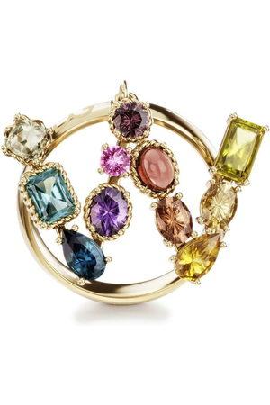 Dolce & Gabbana 18kt yellow Rainbow Alphabet W ring