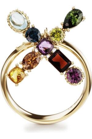 Dolce & Gabbana 18kt yellow Alphabet Rainbow X ring