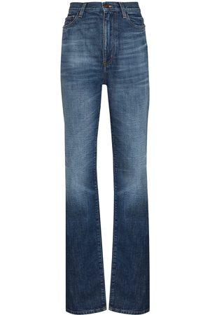 Saint Laurent Women High Waisted - Flared high-waisted jeans