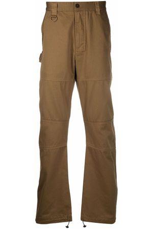 Diesel Men Straight Leg Pants - Green Label panelled trousers