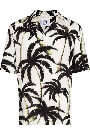 Endless Joy Men Short sleeves - Palm-tree print short-sleeve shirt