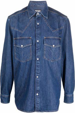 Diesel Men Jeans - Western cotton denim shirt
