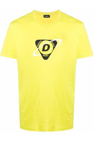 Diesel Men Short Sleeve - Logo-print short-sleeved T-shirt