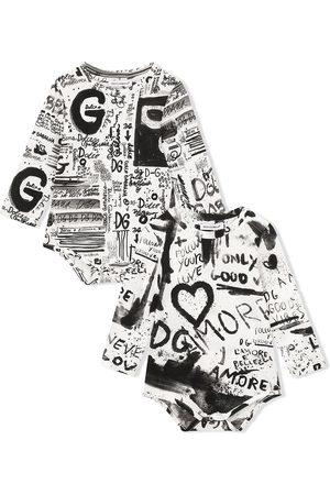 Dolce & Gabbana Bodysuits & All-In-Ones - Graffiti-print bodysuit set