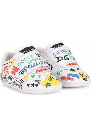 Dolce & Gabbana Sneakers - Graffiti touch-strap trainers