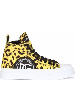 Dolce & Gabbana Women Sneakers - Leopard-print lace-up sneakers