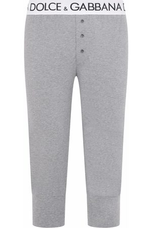 Dolce & Gabbana Men Sweats - Logo waistband leggings - Grey