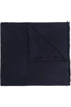 Saint Laurent Women Scarves - Logo plaque wool scarf