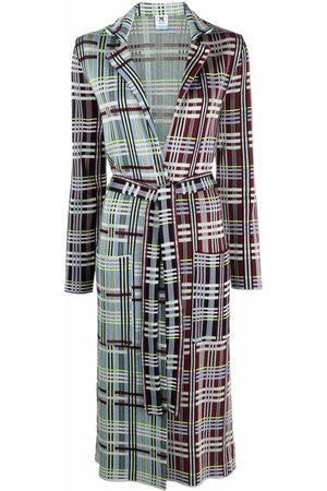 M Missoni Women Coats - Plaid-check print coat