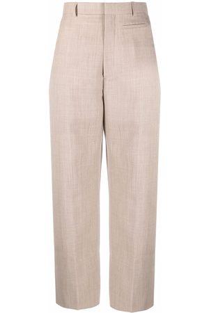 Jacquemus Women Straight Leg Pants - Santon straight-leg trousers - Neutrals