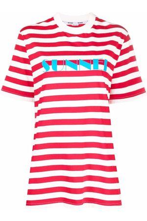 SUNNEI Women T-shirts - Oversized striped logo T-shirt