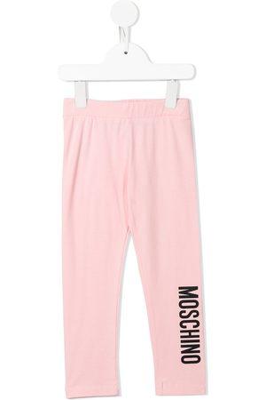 Moschino Girls Leggings - Logo-print cotton leggings