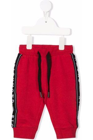 John Richmond Junior Baby Leggings - Logo-stripe detail cotton trousers