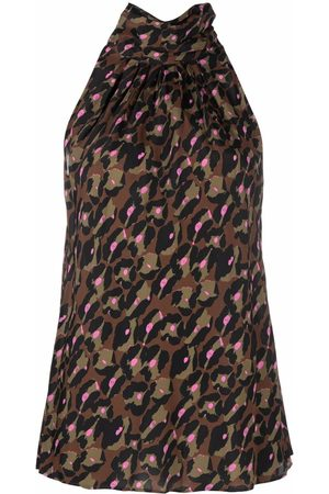Diane von Furstenberg Women Tank Tops - Dove leopard-print sleeveless top