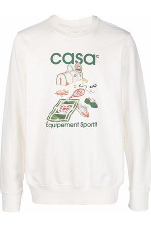 Casablanca Men Long sleeves - Graphic-print long-sleeve sweatshirt