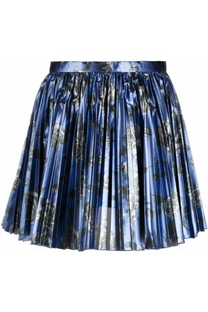 RED Valentino Pleated floral-print skirt
