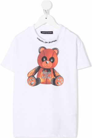 Vision Of Super Teddy graphic-print top