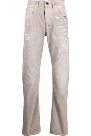 PRPS Distressed straight-leg jeans - Neutrals