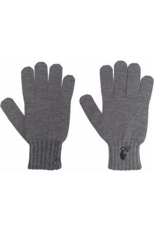OFF-WHITE Hand Off logo gloves - Grey