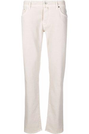 Jacob Cohen Low-rise straight-leg jeans - Neutrals