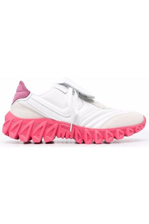 Pantofola d'Oro Women Sneakers - Sneakerball low-top leather sneakers - 0214 BIANCO/ROSA