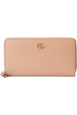 Gucci GG Marmont zip-around wallet - Neutrals