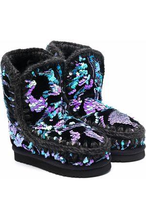 Mou Eskimo sequin-embellished ankle boots