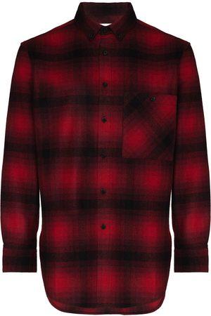 Saint Laurent Men Casual - Check-pattern flannel shirt