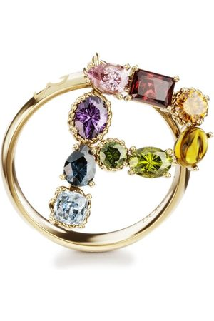 Dolce & Gabbana Women Rings - 18kt yellow Rainbow Alphabet P ring