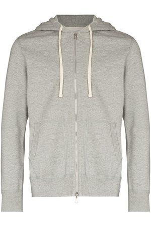 Reigning Champ Men Fleece Jackets - Teddy zipped hooded jacket - Grey