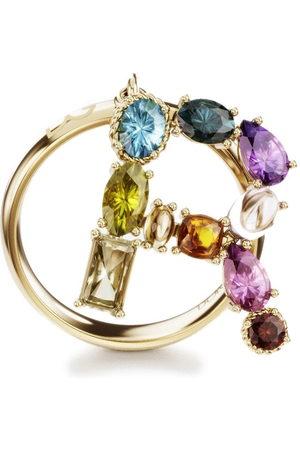 Dolce & Gabbana 18kt yellow Rainbow Alphabet R ring