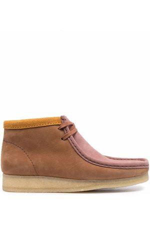 Clarks Wallabee colour-block boots